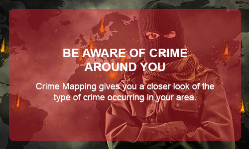 BE AWARE OF CRIME AROUND YOU