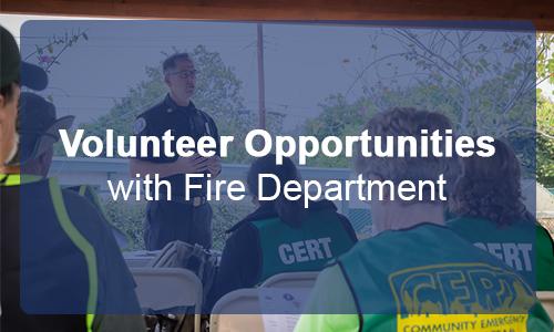 Volunteer Opportunities with Fire Dept